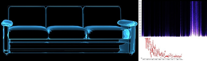 X-ray analysis of a couch structure during vibrations