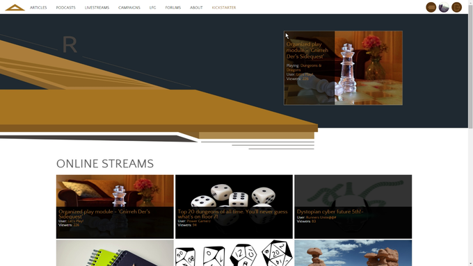 A picture of our Livestream page.  Or just check it out yourself!