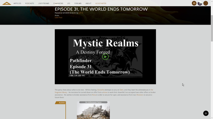A blog post for Mystic Realms summarizing the session I threw all the monsters at them at once!
