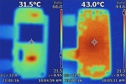 Thermal analysis of Zero + PiJack from both sides (top and bottom)