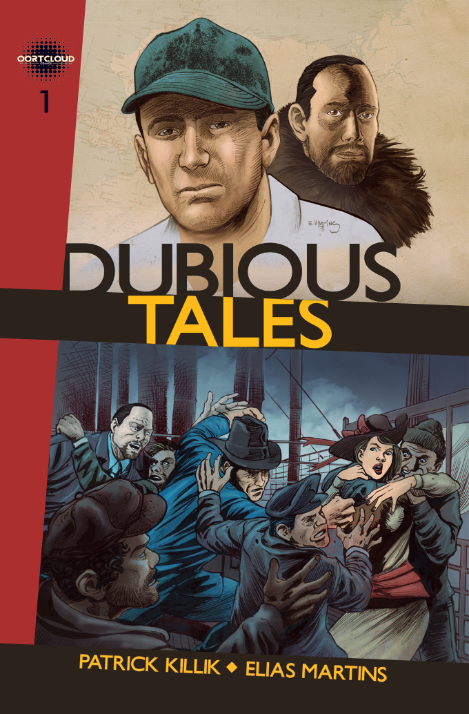 Color cover design for Dubious Tales, Issue #1