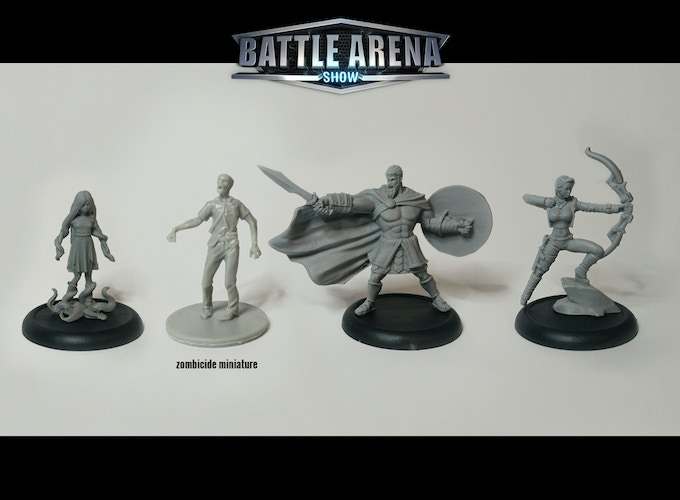 *Real photo, no render. Black bases used only for the prototype. Zombicide is a registered trademark of Cool Mini Or Not.