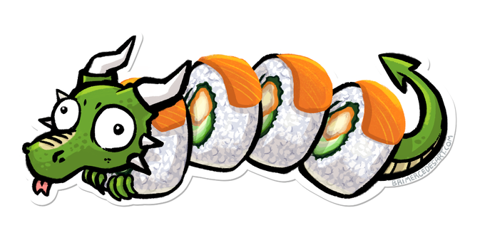 "Final art for Design #6: ""Actual Dragon Roll"""