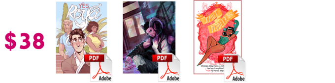 Or, $38 gets ya DRM-free PDFs of Yes, Roya, My Monster Boyfriend, and Smut Peddler 2012!
