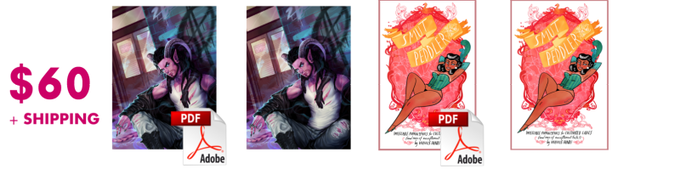 $60 can get you DRM-free PDFs and paperback copies of both My Monster Boyfriend and a Smut Peddler 2012 reprint!