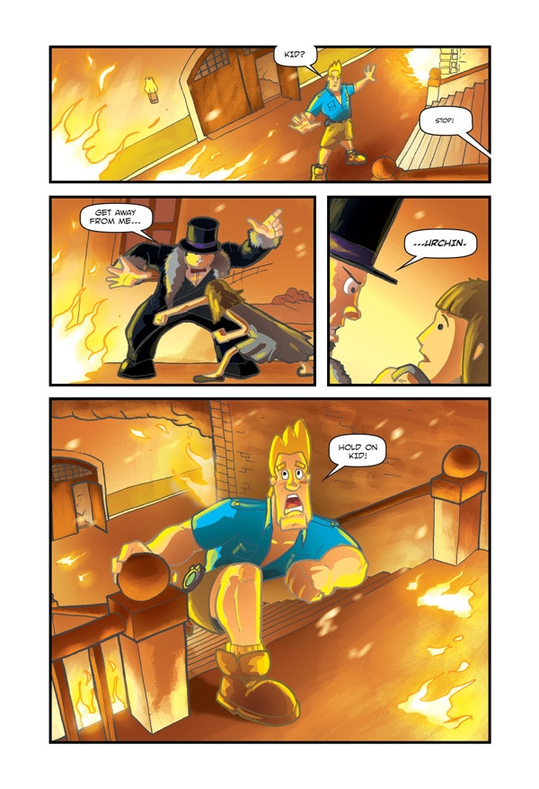 Page from issue #1 - by Kris Carter