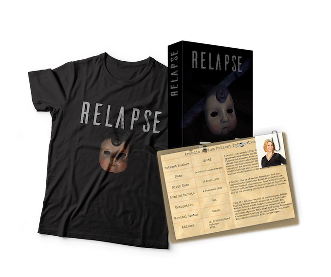 Casefiles, Boxed copies, T-shirts and more! Designs may be subject to change