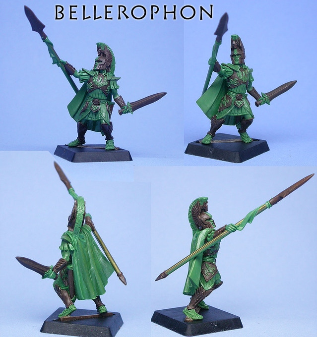 Finished model of King Bellerophon, by Chris FitzpPatrick, concept art by Des Hanley