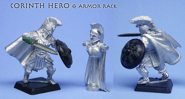 Corinth Hero & Armor Rack, sculpted by Todd Harris & Chris FitzPatrick