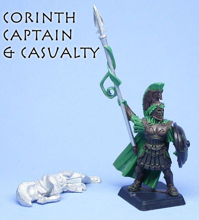 Corinth Captain & Casualty, sculpted by Todd Harris & Chris FitzPartick