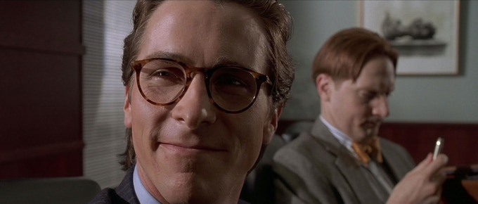 The character of Bateman in 'American Psycho' is very similar to our character, Stanley, in his fantasies; there are no consequences and so his actions are limitless.