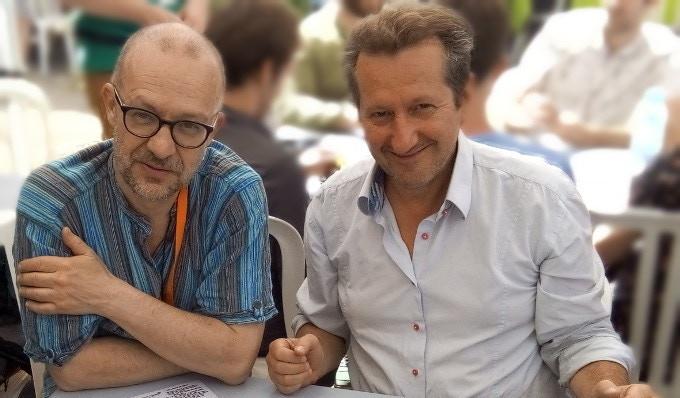 Bruno Faidutti (L) and Serge Laget (R)