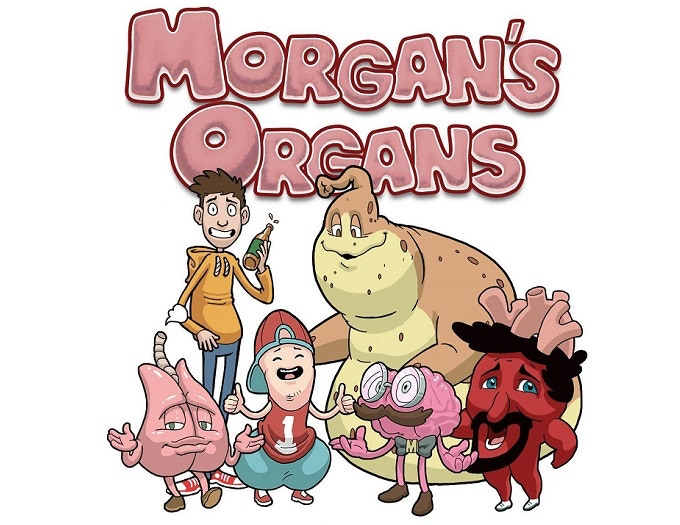 (top to bottom, left to right) - Morgan, Meats the stomach, Lou the lungs, Pepe the penis, Bran the brain, Hugo the heart