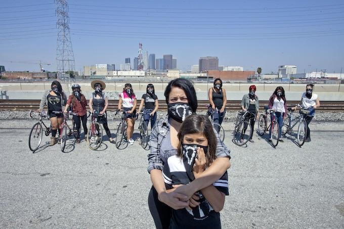 Ovarian Psycos founding member Xela with her daughter Yoli.
