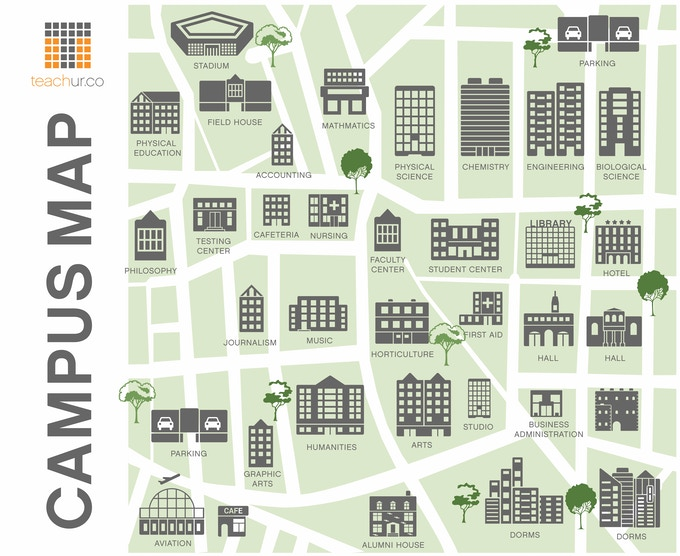 Teachur Virtual Campus Map