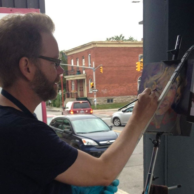 Live painting a Social Portrait at Chinatown Remixed 2015