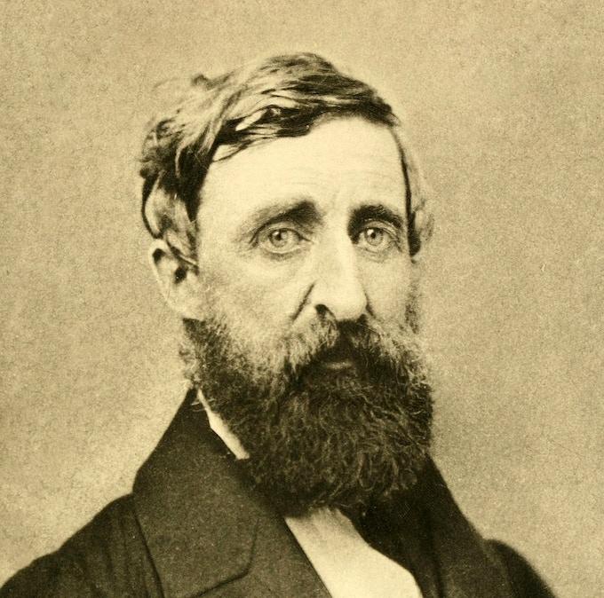 Thoreau in 1861. Ambrotype by Edward Sidney Dunshee