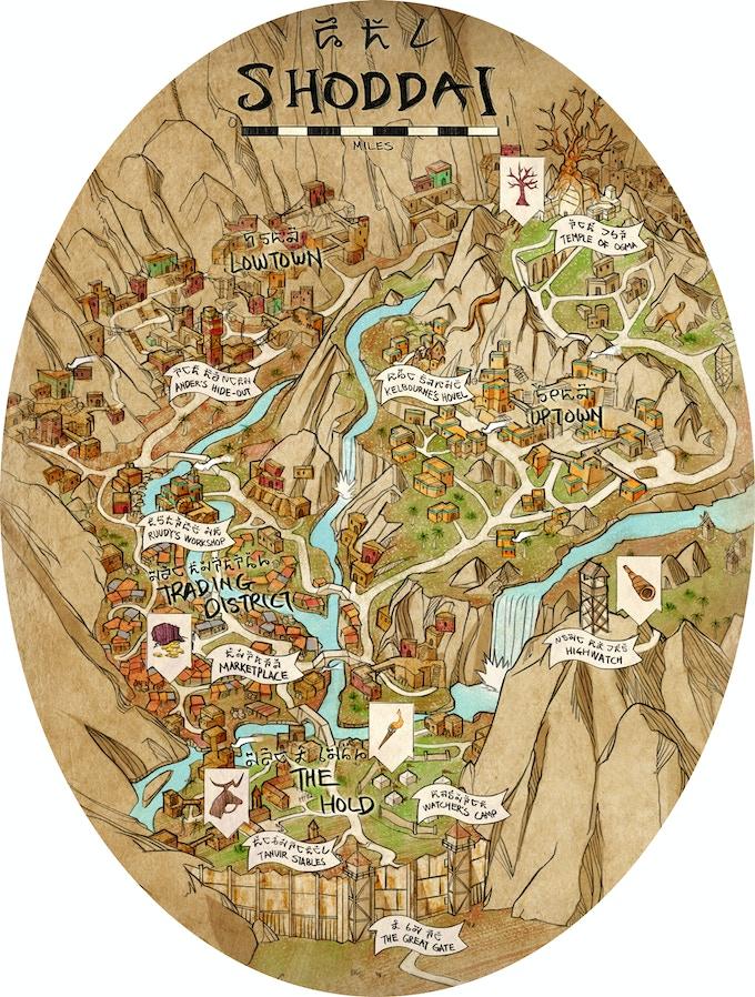 Map of Shoddai by Kendrick See.