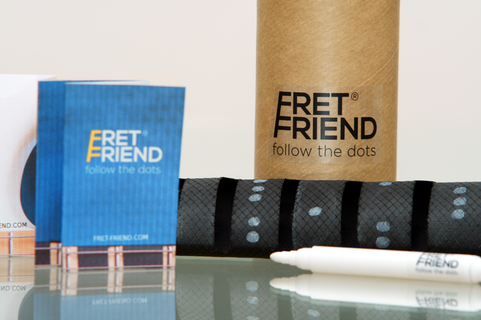 Packaging, Fret Friend, marker and booklet