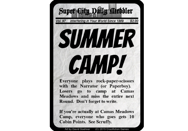 Summer Camp Promo Card - Don't forget to write.