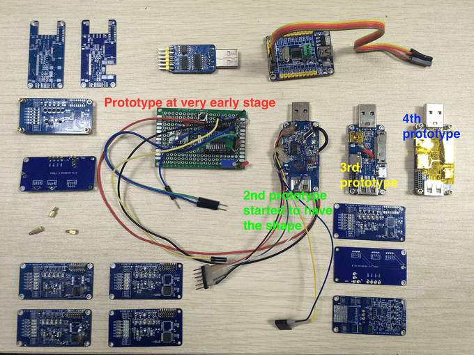 qualMeter Prototypes, PCBs and some Development Tools