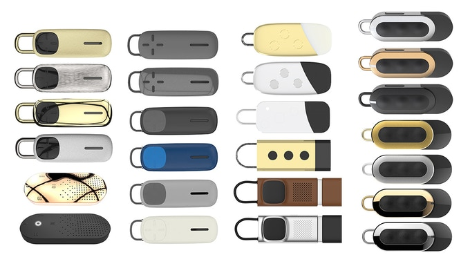 First Concept (Bottom Left) - Kickstarter Version (Top Right)