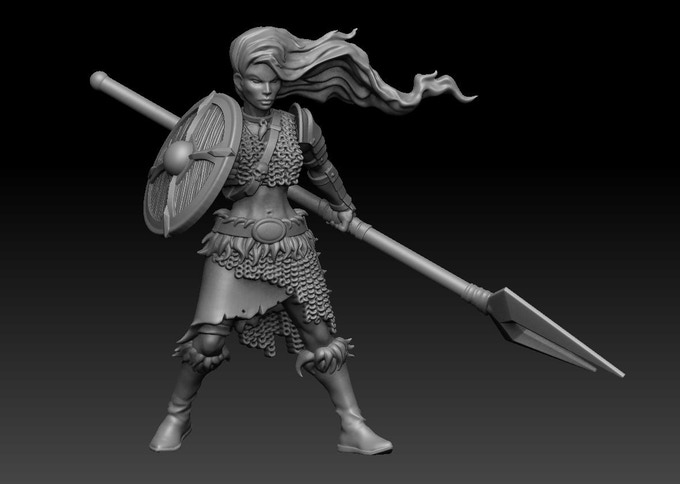 (This is an example of a fully built shieldmaiden miniature)