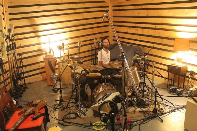 At Bunker studios in Brooklyn recording basics