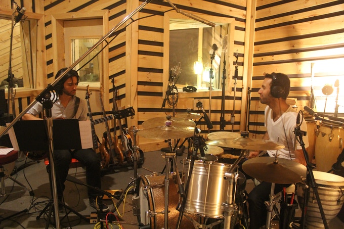 Recording basics with Andres Rotmistrovsky at Bunker studios in Brooklyn