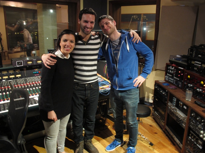 With Magda Giannikou and Michael League after recording some tracks at Atlantic sound studios, Brooklyn