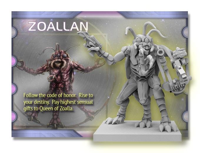 4 Zoallan aliens
