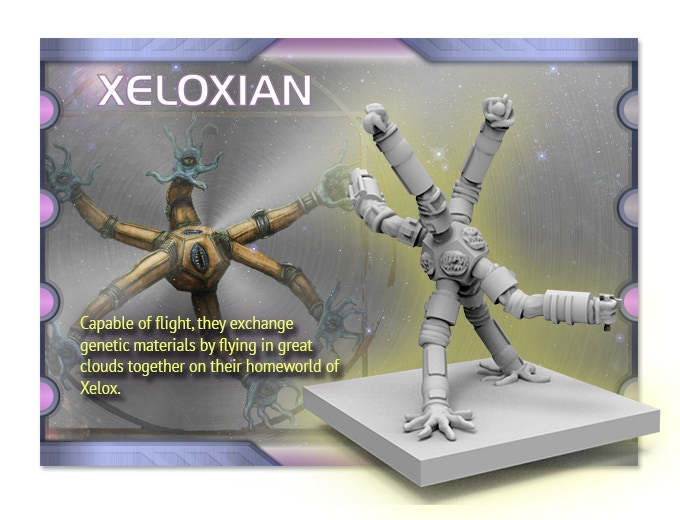 4 Xeloxian aliens  - help us choose the weapons or tools