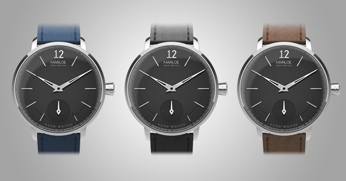Black dial with strap options
