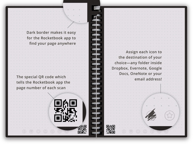 rocketbook  Rocketbook Wave: Cloud Connected Microwavable Notebook by Rocketbook ...