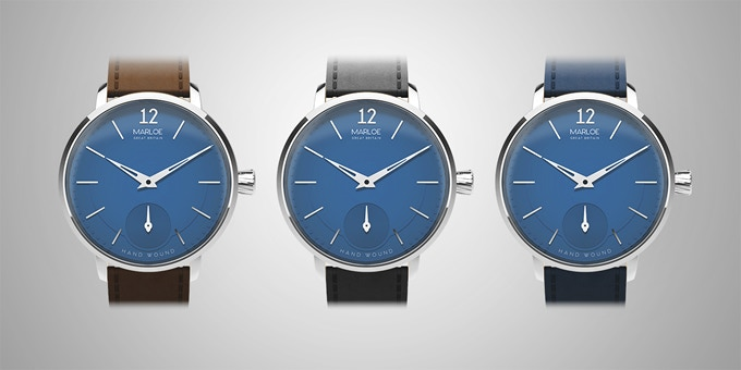 Blue dial with strap options