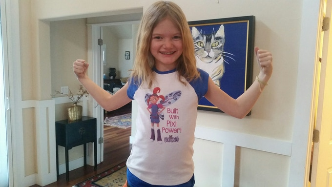 Your child will love their raglan sleeved Pixi Power t-shirt!