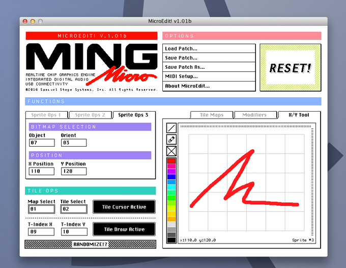 Ming Micro desktop Patch Editor mockup—features and design not final.