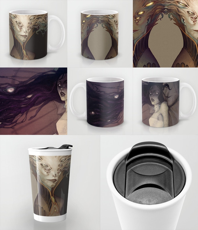 Anne Dark Reward #6, backers choice of design and either mug or tumbler.