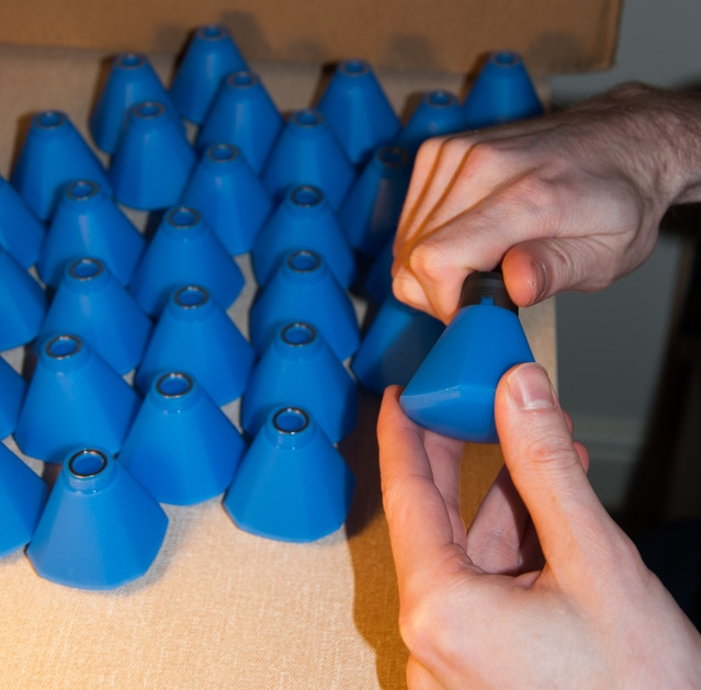 Busy assembling the Blue Colour Filters!