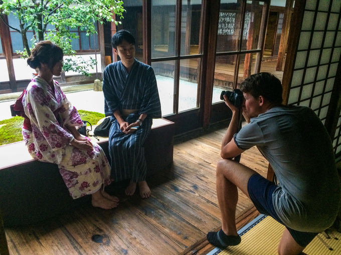 Après ma rencontre avec des Yakuzas, dans un temple bouddhiste de Kyoto