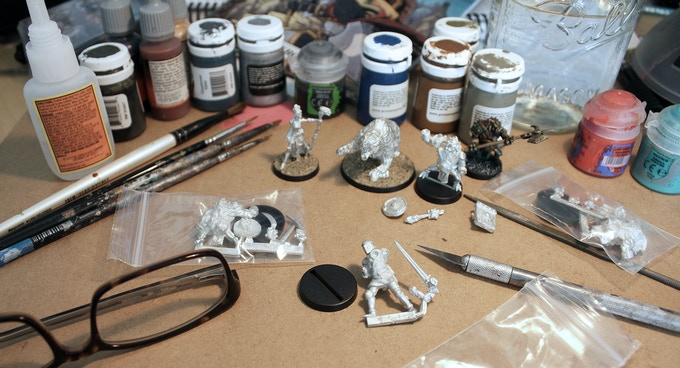 Miniatures are supplied unassembled and unpainted.
