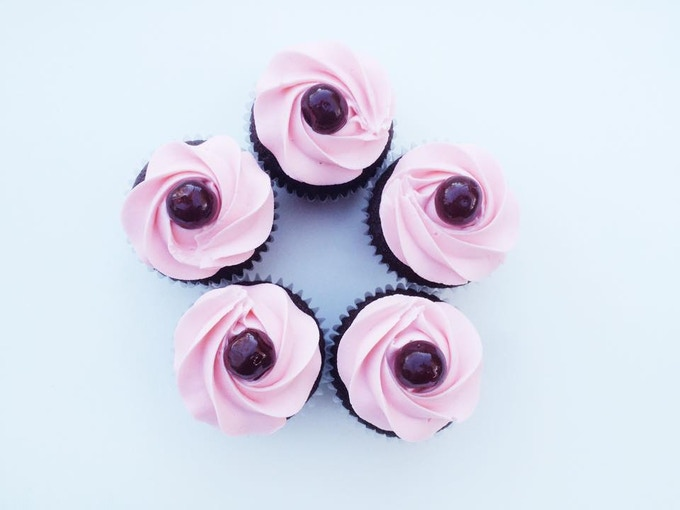 Chocolate Covered Cherry Cupcakes