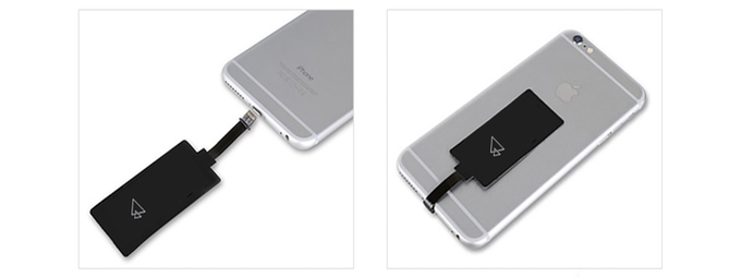 For all orders, we will provide automatically a wireless receiver chip to make your phone Qi compatible.
