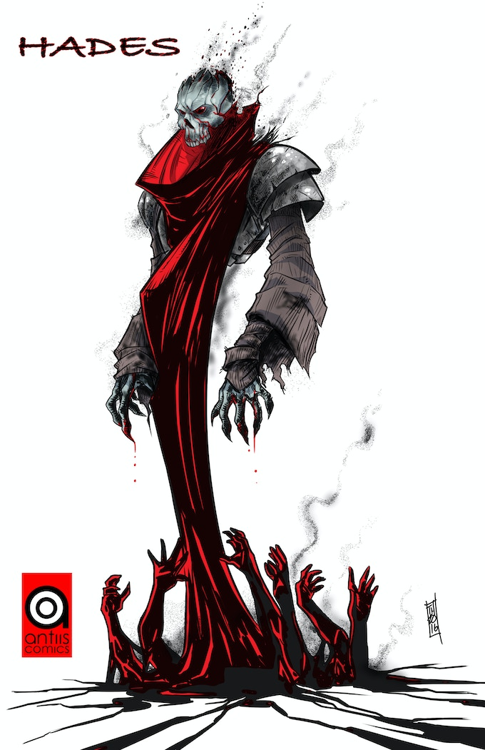 Hades (Villain ACP 7-9: Bellona), Art by Tom Hodges