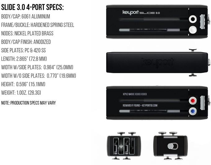 Keyport Slide 3.0 4-Port Specs