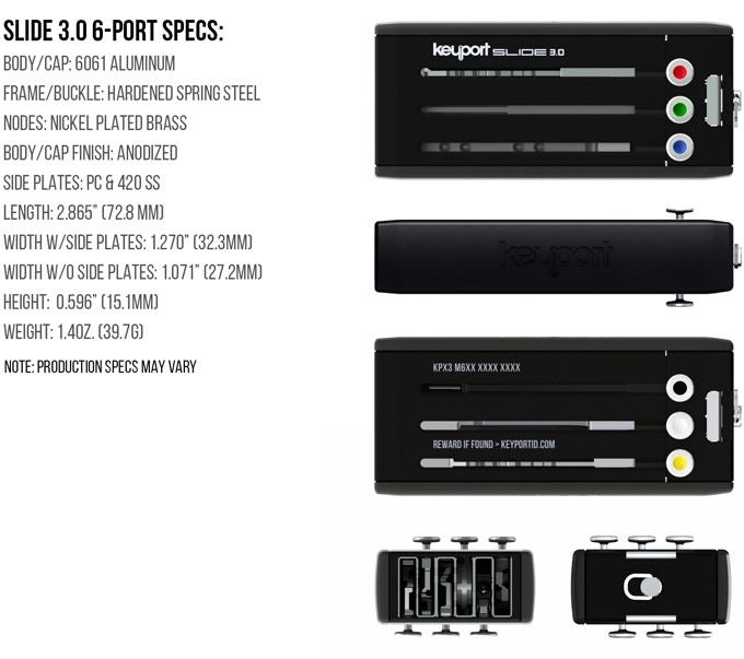 Keyport Slide 3.0 6-Port Specs