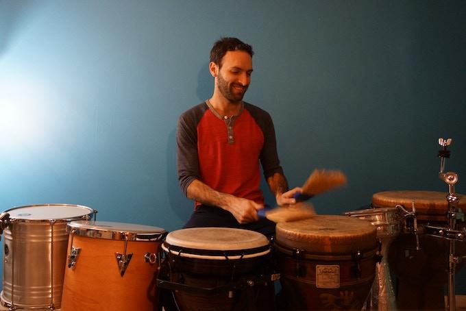 Brooms to play drums!