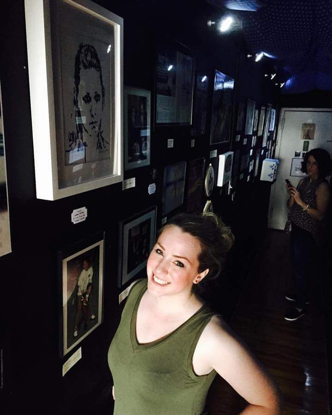 In the Museum Next 2 Her Drawing of Tonya!