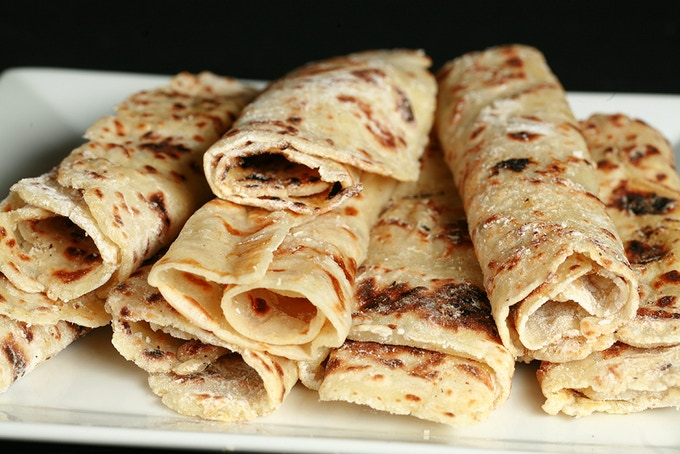 I live in Minnesota - of COURSE I had to develop a gluten-free Lefse recipe! Note that it rolls tightly, without cracking and breaking...