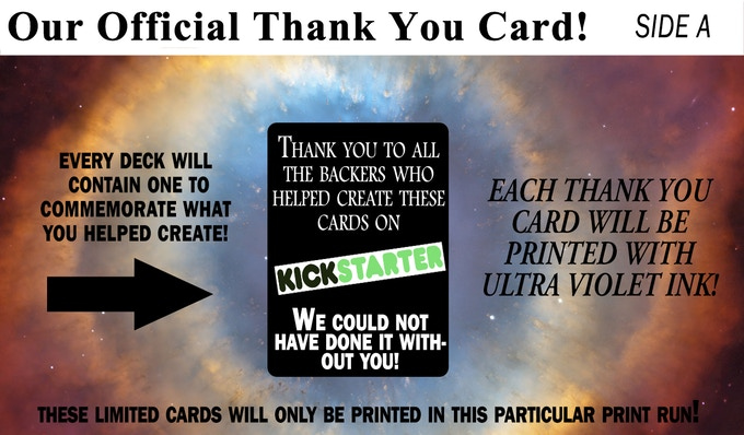 Each deck comes with this token of our appreciation!